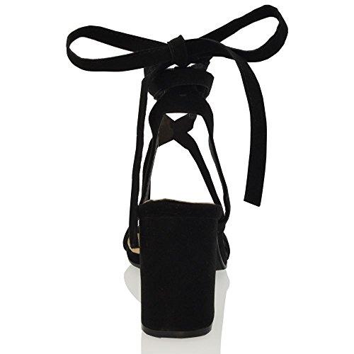 Tacco Medio Alla Lace Block Cinturino Glam Caviglia Con Essex Womens Up qwXABY
