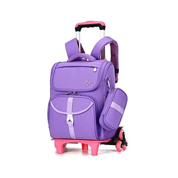 LUONE Bambini Zaino Trolley, Il Nuovo Carrello Schoolbag di Mezza età dei Bambini dello Zaino Estraibile Daypacks ad… 1 spesavip