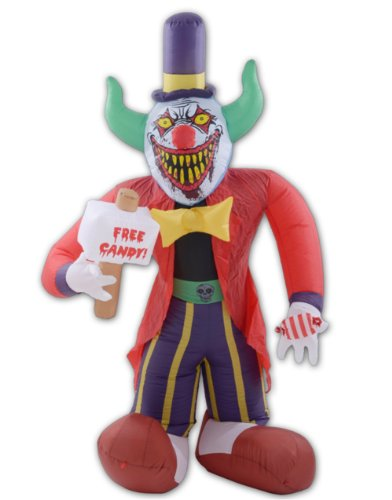 8 Ft Free Candy Killer Clown Halloween Airblown Inflatable New