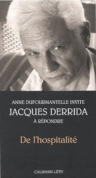 De l'hospitalité par Jacques Derrida