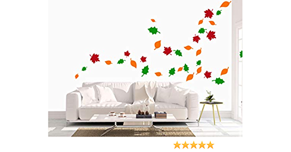 Amazon Com Autumn Home Decor Stickers Leaves Wall Decals Thanksgiving Fall Vinyl Seasonal Decor Back To School Teacher Room Decoration Arts Crafts Sewing