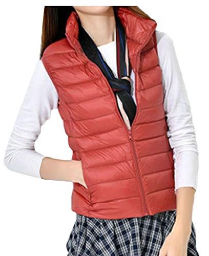 Zip Quilted Women's Lightweight Vest Jacket Gilet Collar 5 Stand TTYLLMAO 0qPwYOx