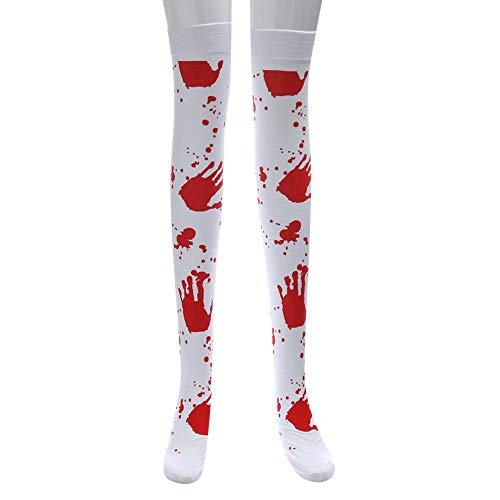 UOKNICE Halloween Print Long Tube Knee Socks Fancy Dress Party Funny Dress Up Props