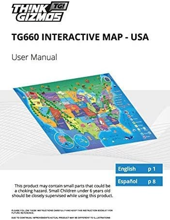 Think Gizmos Mapa Parlante Interactivo para niños TG660 - Aprende ...