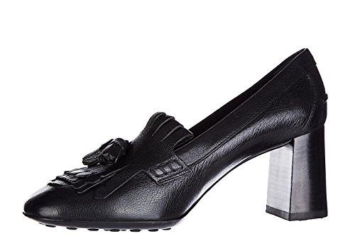 Tods Zapatos de Salón Escotes Mujer EN Piel Nuevo t70 Negro