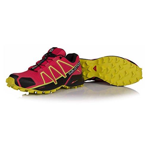 Salomon Dames Versnellen Steken 4 W Hardloopschoenen, Green, Pink 38 Eu (virtuele Roze / Zwart / Zwavelbron 000)