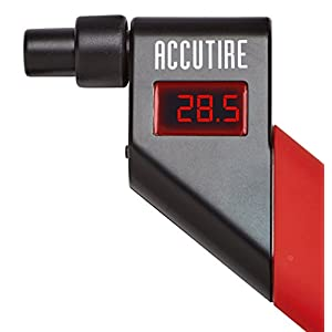 Accutire MS-4021R Digital Tire Pressure Gauge with 4 Valve Caps