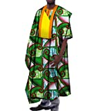 Comaba Men's Stylish Dashiki Cotton Longline Africa Batik Classic T Shirts 8 XL