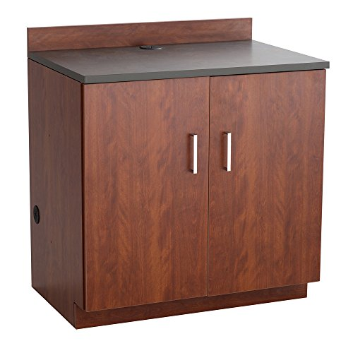 Safco Products 1702MH Modular Hospitality Breakroom Base Cabinet, 2 Doors/2 Adjustable Shelves , Mahogany Base/Rustic Slate Top