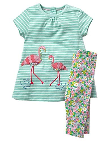 Toddler Baby Girls Clothing Set Cut Print Short Sleeve T Shirt and Pants 2pcs Outfits ()