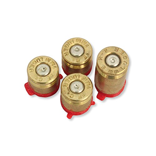 Xbox One Bullet Buttons Raplacement A B X Y Real Bullet Brass Casings Gold Brass w/ Silver Nickel Primer (Bullets Xbox Controller Buttons)