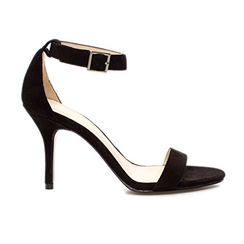 Kacey Black Sandal Pelle Kid Women's Suede Dress Moda qfwXwRTE