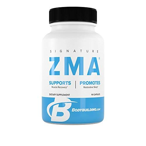 BodyBuilding.Com Signature ZMA Capsules | Promote Sleep, Support Muscle Recovery | Zinc, Vitamins Supplement | 30 Servings