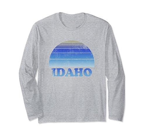 Unisex Idaho Long Sleeve T Shirt Clothes Adult Teens Medium Heather (Idaho Long Sleeve)