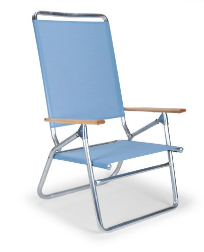 Telescope Casual Light and Easy High Boy Folding Beach Arm Chair, Sky by Telescope Casual