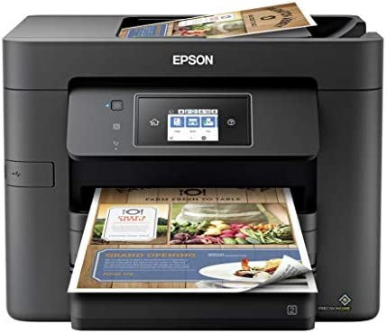Epson Workforce Pro WF 3000 Series Wireless All-in-One Color Inkjet Printer for Home Office - Print Scan Copy Fax - Voice-Activated, 20 ppm, Auto 2-Sided Printing, 500-Sheet, 35-Sheet ADF, Ethernet