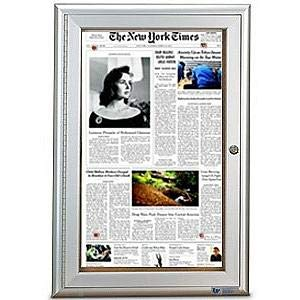 Satin Aluminum Radius Frame Restroom Board Size 19 inch x 28 inch