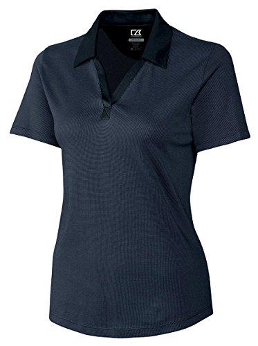 Drytec Birdseye Golf Polo (Cutter & Buck WCK05993 Womens Cb Drytec Birdseye Polo, Navy Blue-5X)