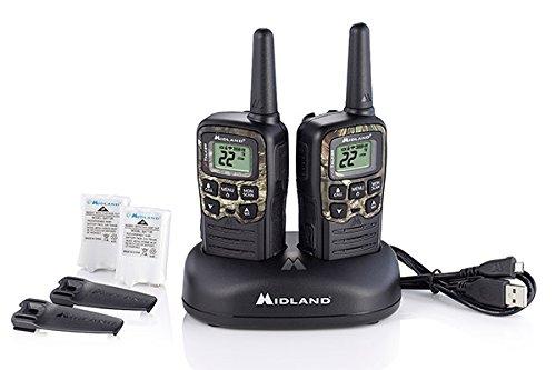 X-TALKER , 22 Channel FRS Walkie Talkie - Up to 28-Mile Range Two-Way Radio, 38 Privacy Codes, NOAA Weather Alert (Pair Pack) (Black w/Mossy Oak Camo) - Midland T55VP3