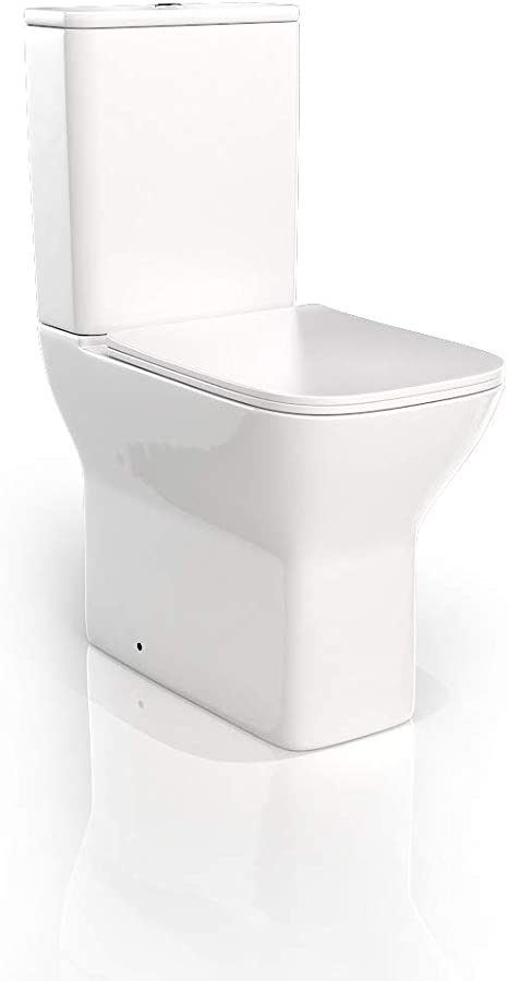 VeeBath Elizabeth Bathroom Traditional WC Close Coupled Toilet Period Style