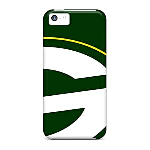 AshtonWells Apple Iphone 5c Protective Cell-phone Hard Cover Unique Design Fashion Green Bay Packers Image [wlU17920tNUV]