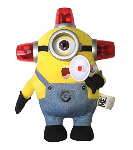 Kaito glue minion Boss 10 inches Talking & Light-up plush Bido Fire Man minion Stewart / DESPICABLE ME TALKING & LIGHT-UP PLUSH BEE-DO FIREMAN MINION STUART