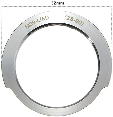 Camera Adapter For Leica M39 Screw Mount LSM LTM L39 Lens To for Leica M 28-90mm aluminium lens mount adapter Sala-Deco