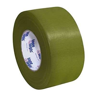 "Tape Logic T988100LV3PK, 10.0 Mil Duct Tape, 3"" x 60 yd, Olive Green (Pack of 3) by Tape Logic"