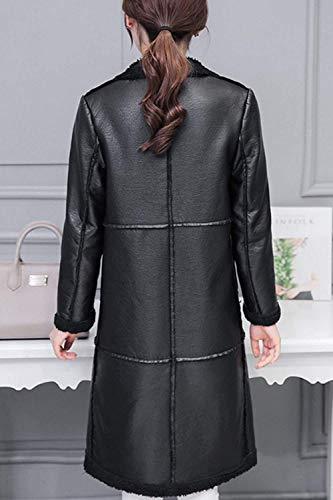 De En Manches Épaissir Transition Épais Cuirette Veste Femme Costume Taille Plein Huixin Mode En Jour Noir Décontracté Chaud Long À Hiver Élégant Longues Haute Manteau Air Velours Parka De nqOqSI0Ra