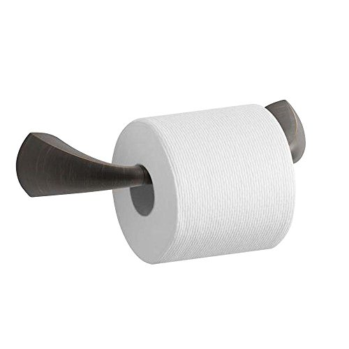 Kohler K-37054-2BZ Alteo Pivoting Toilet Tissue Holder, Oil-Rubbed (Kohler Brass Toilet Paper Holder)