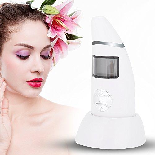 Skin Moisture Tester, Rechargeable Skin Care Moist Oil Analyzer Mointor Facial Mask Fluorescer Tester (White)