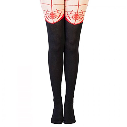 Marvel Comics Ultimate Spiderman Suit Up Costume Sheer Tights