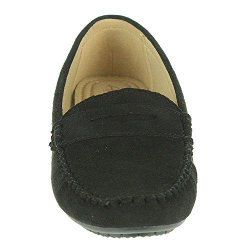 Women Ladies Comfort Office Work Smart Lightweight Moccasins School Flat Pump Shoes Size Black MOiaTc