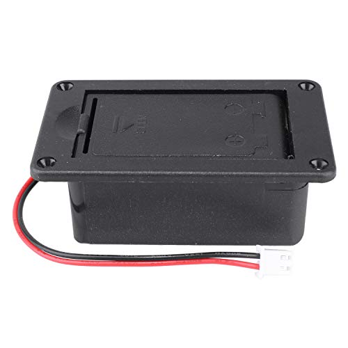 Guitar Pickup Battery Box 9V Battery Box Case Cover Holders for Guitar Bass Pickup Black ()