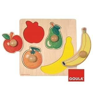 Goula - Puzzle de madera, diseño frutas (Diset 54000)