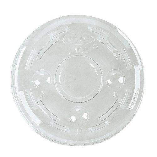 Dart PL1N Portion/Soufflé Cup Lids. Fits .5-1oz Cups, Clear, 2500/Carton