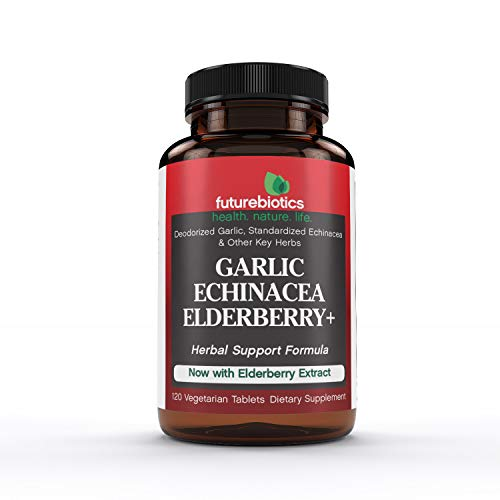 Futurebiotics Garlic Echinacea Elderberry, 120 Vegetarian Tablets - Futurebiotics Garlic Echinacea