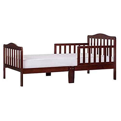 (Dream On Me Classic Toddler Bed in Espresso with 2-in-1 Breathable Twilight 5