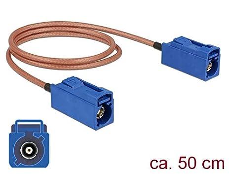 DeLOCK 89667 - Cable coaxial (0,5 m, FAKRA C, FAKRA C, RG ...