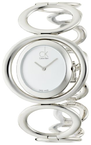 Calvin Klein Women's 'Graceful' Swiss Quartz Stainless Steel Casual Watch, Color:Silver-Toned (Model: K1P23120)