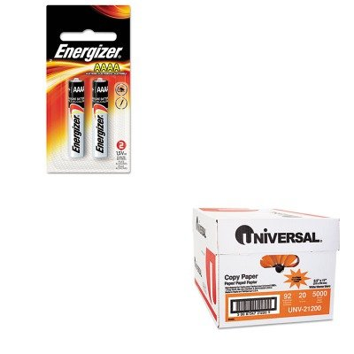 KITEVEE96BP2UNV21200 - Value Kit - Energizer MAX Alkaline Batteries (EVEE96BP2) and Universal Copy Paper (UNV21200) by Energizer