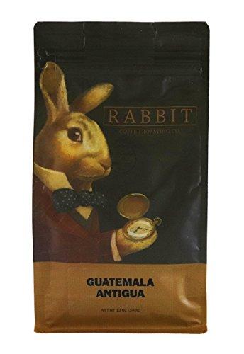 Guatemala Antigua Whole Bean Coffee – 100% Arabica – Medium Roast – Rabbit Coffee Roasting Co. – 12 Ounce Bag For Sale