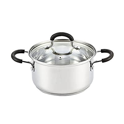 """Cook N Home Stainless Steel 10"""" Saute Pan With Lid"""