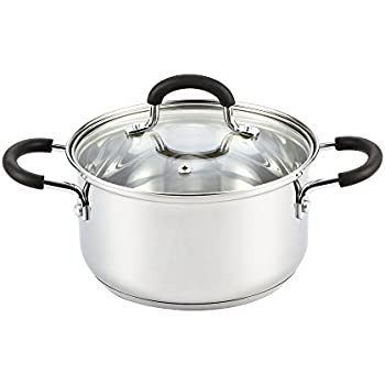 this item cook n home stainless steel cookware 3 quart sauce pot with lid
