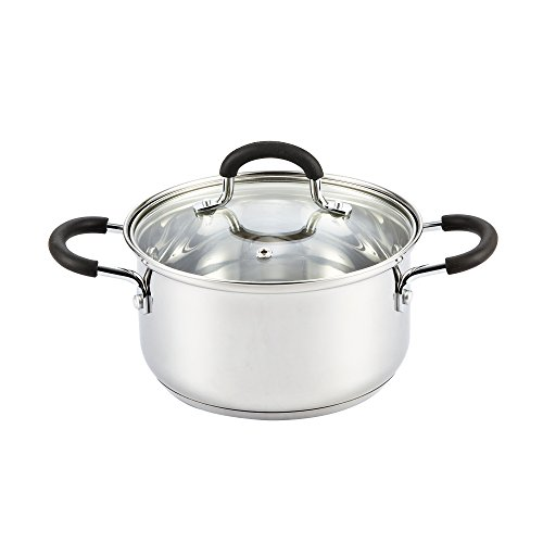 Stainless Steel Sauce Pot Casserole with Lid ()