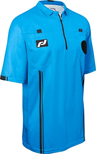 Elite Jersey Short Sleeve Soccer Referee Jersey Men's, Blue - XXX-Large 50