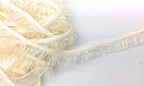Off white Cord-edge Loop Fringe Piping Trim -Lip Cord for Clothing Pillows, Lamps, Draperies 5 Yards Pi-129/108 - Edge Loop Fringe