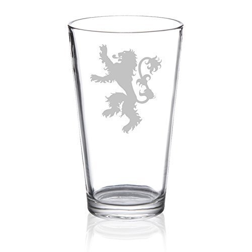 Game of Thrones - House Lannister - Etched Pint Glass