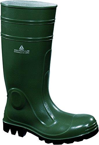 Panoply Gignac PVC Vert Bottes de sécurité Wellington Bottes de travail avec coque couvre-orteils en acier britannique