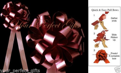 your_perfect_gifts BURGUNDY RED 8'' WEDDING PULL PEW BOW BRIDAL CHAIR DECOR
